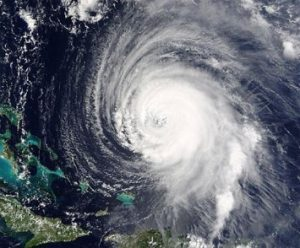 Hurricane Pictured from a Satellite