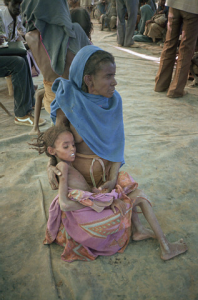 Starving Child and Mother in Africa